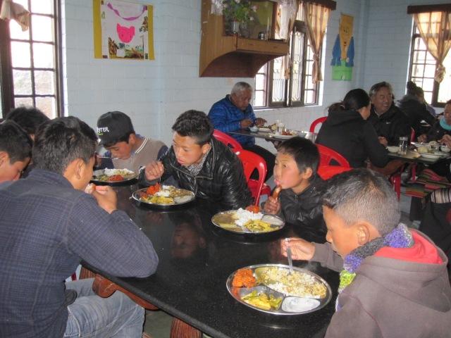 lunch at TCV gopalpur